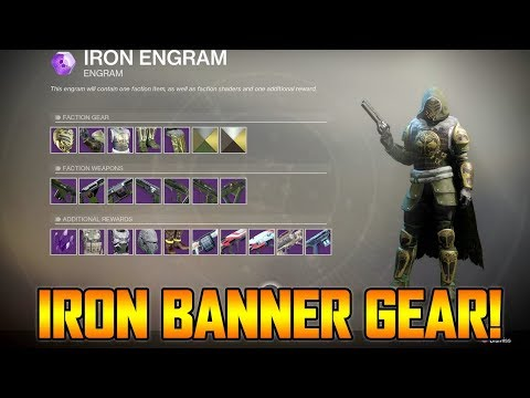 DESTINY 2 - FIRST EVER IRON BANNER LEGENDARY LOOT/GEAR REWARDS! (Iron Banner Gameplay)