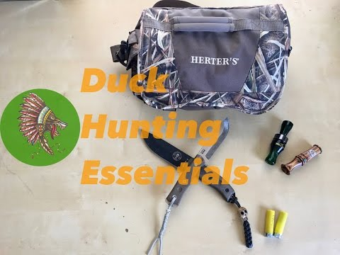 What's In My Blind Bag?  Duck Hunting Essentials