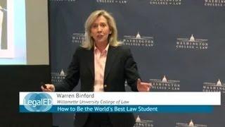 How to Be the World's Best Law Student | Warren Binford | Willamette Univ. College of Law | ILT 2015