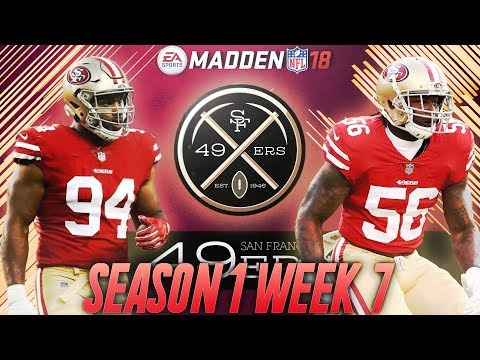 Madden 18 San Francisco 49ers Connected Franchise | Season 1 Week 7 | Jimmy Garoppolo 49ers Debut