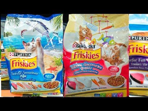 อาหารแมวFriskies อาหารแมวฟริสกี้ มีทั้งหมดกี่สูตร เลี้ยงในบ้านดับกลิ่นมูลกลิ่ฉี่