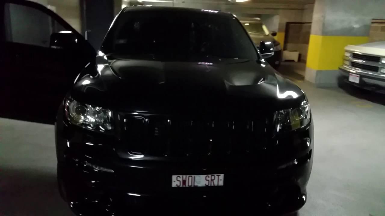medium resolution of 2012 jeep grand cherokee srt8 22 lowering springs borla kooks headers k n black on black