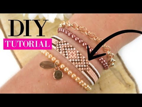 How to Make a Woven Beadloom Bracelet with Miyuki Beads?