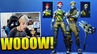 STREAMERS *REACT* CHROMIUM SKIN & DIECAST SKIN - Fortnite Best & Funny Moments (Fortnite BR)