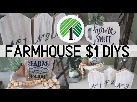 Dollar Tree Farmhouse DIY Decor   $1 Farmhouse Decor   4 Dollar Tree Budget Friendly DIYs