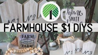 Dollar Tree Farmhouse DIY Decor | $1 Farmhouse Decor | 4 Dollar Tree Budget Friendly DIYs