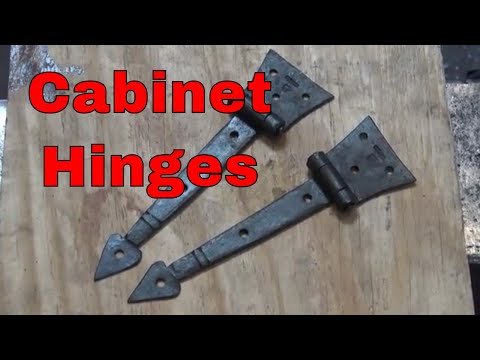 Forging cabinet hinges with a spade finial - basic blacksmithing