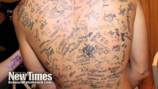 World Record Most Tattooed Signatures On Back