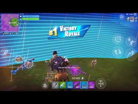 Fortnite Mobile 11 Kill Solo Win ( IPhone 6s/ Low Graphics )