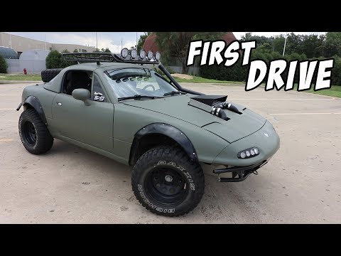 First Drive in the Supercharged Lifted Miata!