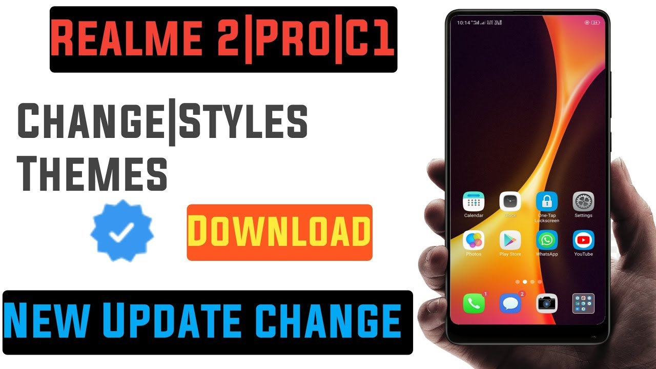How To Change Themes On Realme 2| Pro|C1 | Download Free Themes Store On  Realme 2 Pro