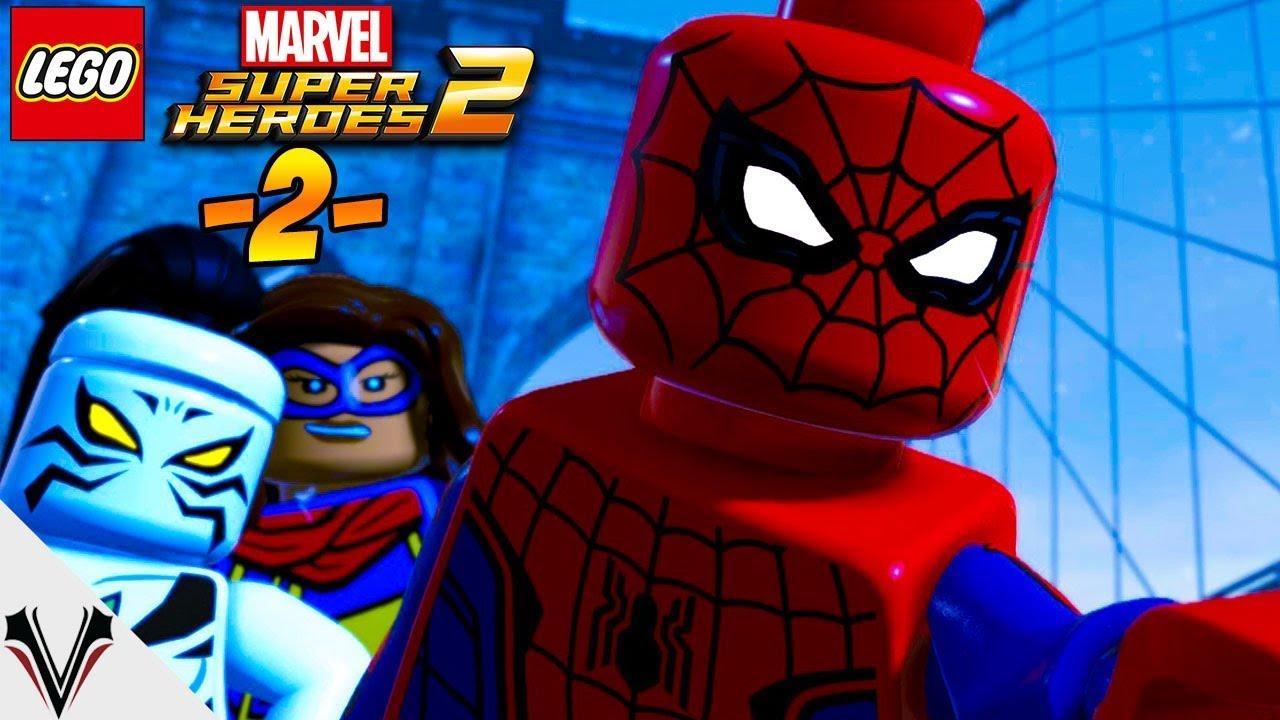 SPIDER-MAN W AKCJI! LEGO Marvel Super Heroes 2 #02   Vertez   PL 1080p 60fps