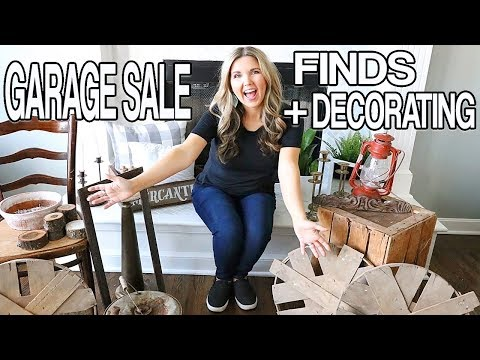 Garage Sale Haul 🌟 Farmhouse Decor on a Budget -Thrift Store Haul