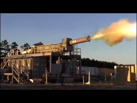 Electromagnetic Railgun - First shot at Dahlgren's new Terminal Range