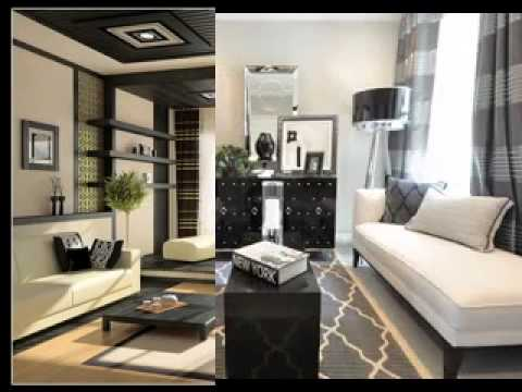 Black and cream living room decor ideas - YouTube