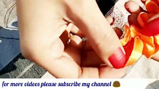 Learn how to make beautiful satin ribbon flowers ll hair accessories and decorations ll Part -1