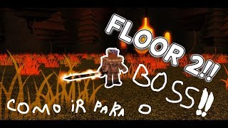 Roblox #2-Teaching to get to the Boss room on floor 2!!! (Swordburst 2)