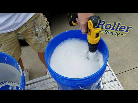 The Roller Ready Painting Tool. Cleans Rollers Fast!