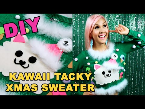Diy Kawaii Tacky Christmas Sweater Tutorial