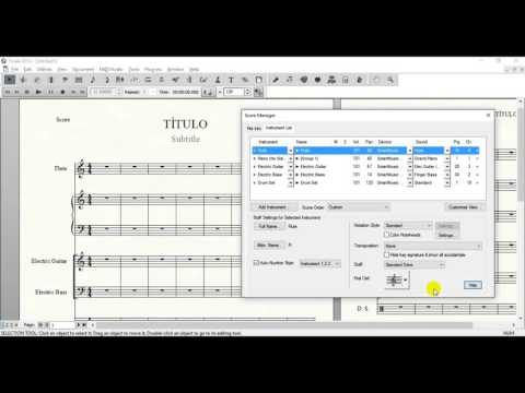 HOW TO ADD/REMOVE INSTRUMENT FROM SCORES - FINALE 2014
