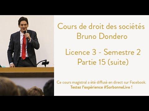 REPLAY Cours de droit des sociétés - Semestre 2 - Partie ...
