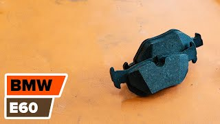Cómo cambiar Discos de freno traseros, Pastillas de freno traseros en BMW 5 E60 [Instrucción]