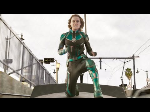 Train Fight Scene - CAPTAIN MARVEL (2019) Movie Clip