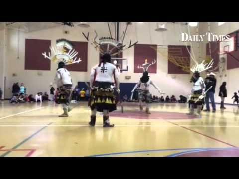 Apache Crown Dancers at Ojo Amarillo Elementary School in Fruitland