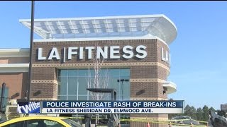 Bandits break into lockers at 2 LA Fitness gyms