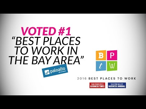 "Voted #1: ""Best Places To Work in the Bay Area"" - Palo Alto Networks"
