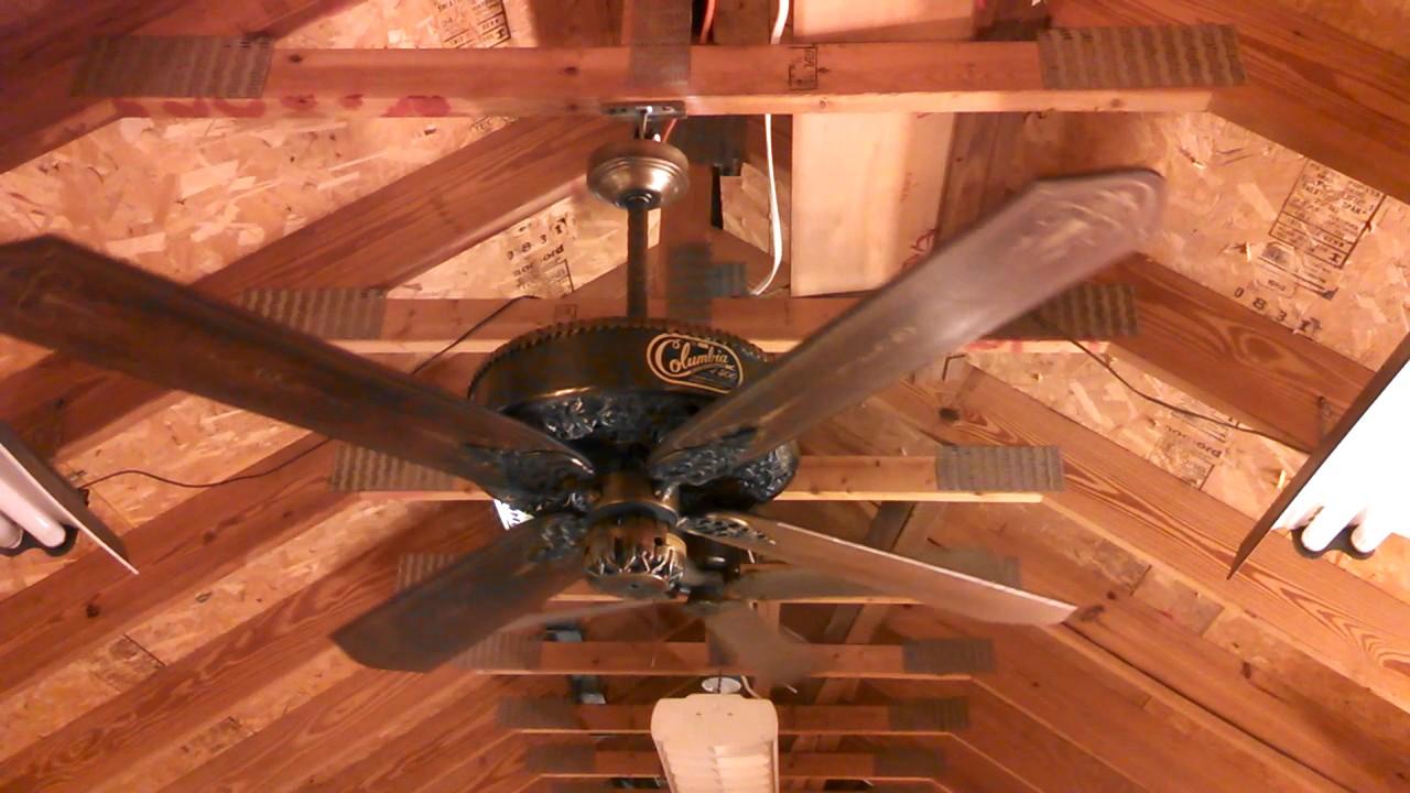 Casablanca Columbia 500 Ceiling Fan With Gear Belt Drive