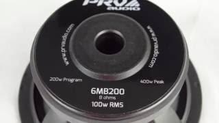 prv audio brazil 6mb200 6 midbass loudspeaker 100 watts rms