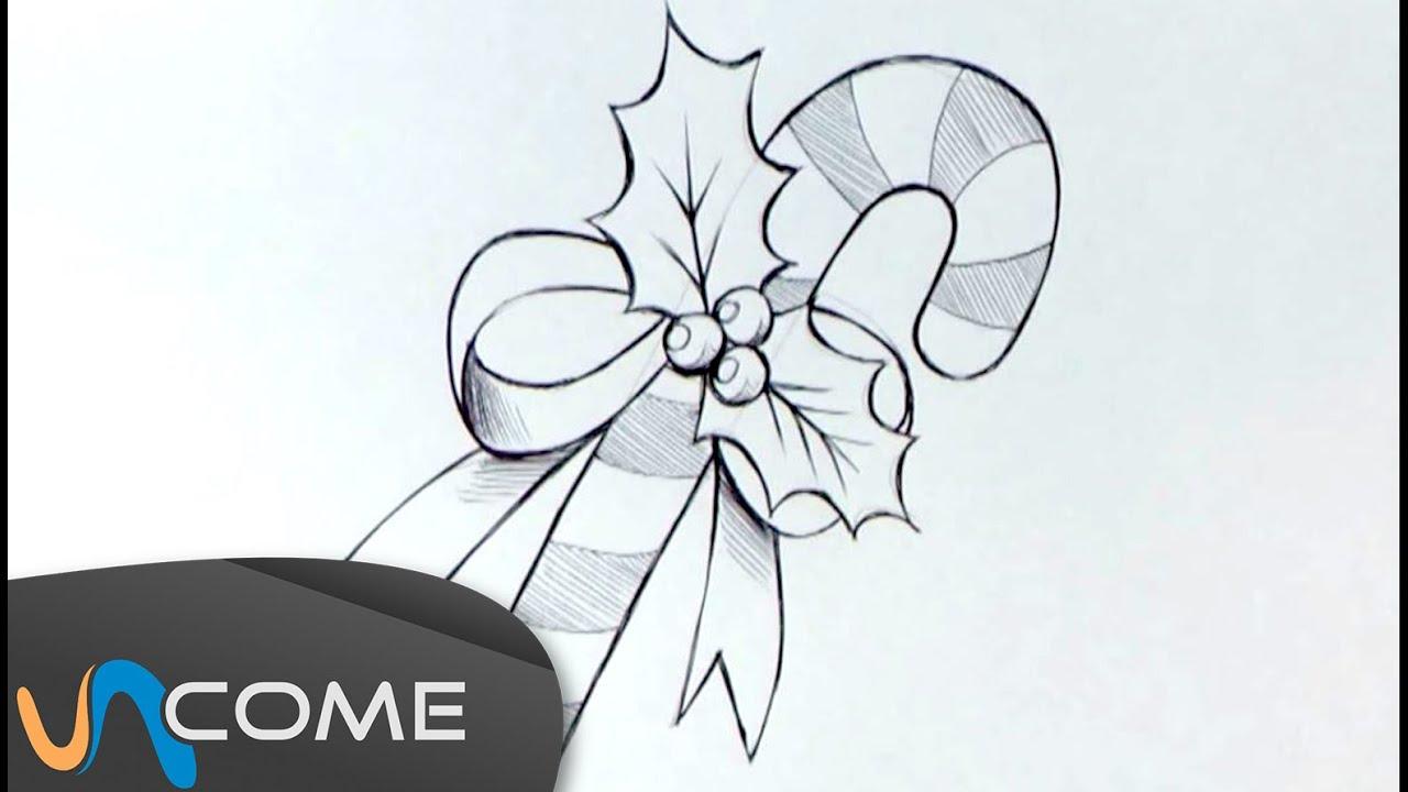 Come disegnare i bastoncini di zucchero per natale youtube - Come disegnare immagini di halloween ...