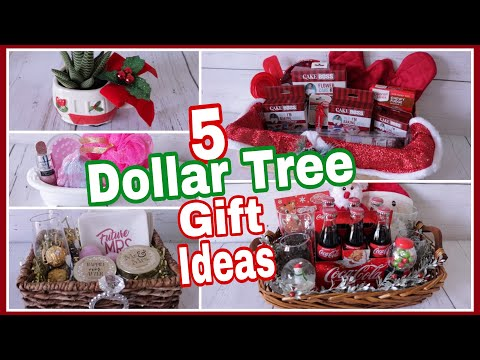 Dollar Tree Christmas Gift Baskets | DIY Gift Ideas