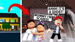 MY KIDS Found a SECRET ATTIC and IT WAS HAUNTED! - Roblox - Bloxburg