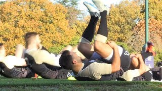 England Rugby Squad Train Ahead Of Japan Match