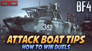 BF4 Attack Boat Tips - How To Win Duels (Battlefield 4 Commentary/Gameplay)