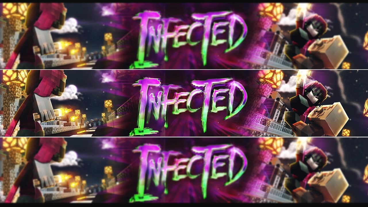 Minecraft Speedart - Infected - By Aether - GIF BANNER - PSD AVAILABLE - .