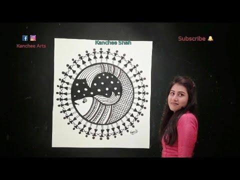 Warli Painting / Home decoration / Folk Art / Tribal Art / Pen work / Kids and Beginners – Step wise
