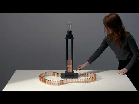 Glithero creates lamp you switch on by toppling a row of dominoes