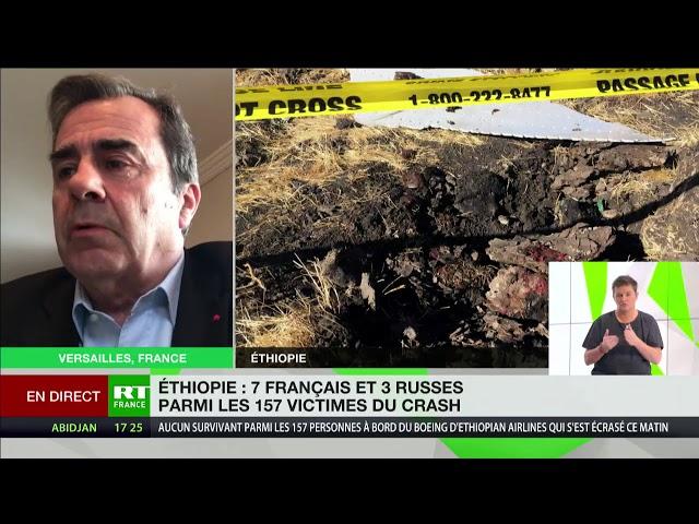Ethiopian Airlines : Bertrand Vilmer revient sur les causes possibles du crash