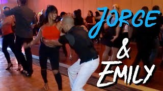 Salsa- Emily Alabi & Jorge Melo @ Charlotte salsa invitational 15. Social dance friday.