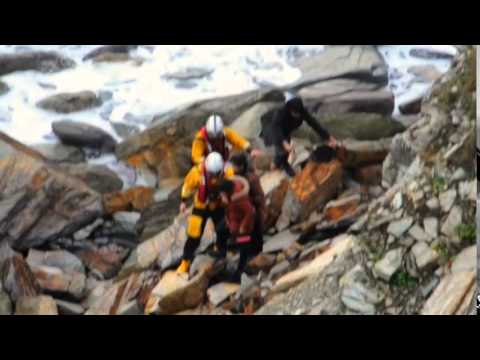 Dramatic footage of beach rescue in Cornwall