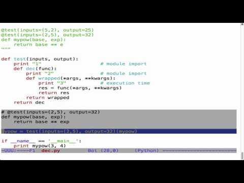 Decorators, timeit, and doctest - YouTube
