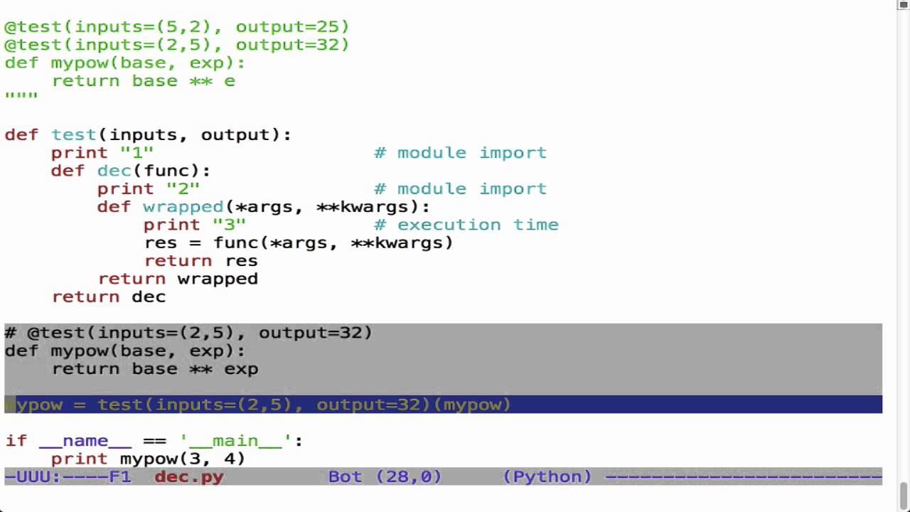 "Using Decorators for Testing Screencast"" - Matt Harrison s Blog"