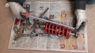 バイクのリアサススプリング交換【Bandit250 GJ77A】
