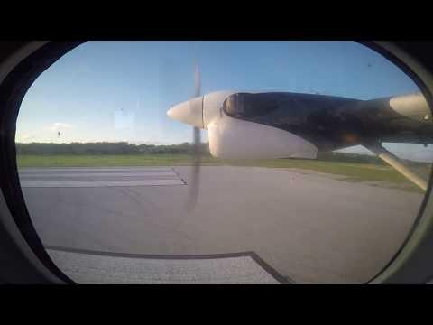 Cayman Airways de Havilland DHC-6 departure from Cayman Brac Island