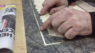 Ebru sanatı altın yapraklarla kalem çekmek 2.Bölüm
