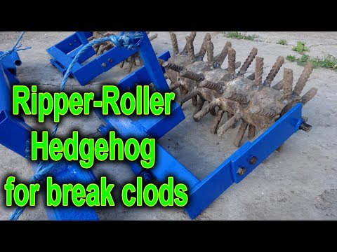 Ripper-Roller for break clods home-made