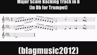 major scale trumpet drills backing track in b db for trumpet